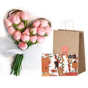 Ramo Corazón (16 rosas)+Chocolate Linaje
