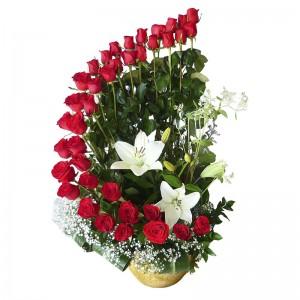 Media luna de rosas (ANV005)