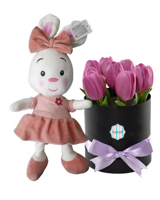 Box 7 Tulipanes + Conejita